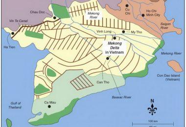 Mekong Delta Travel Map