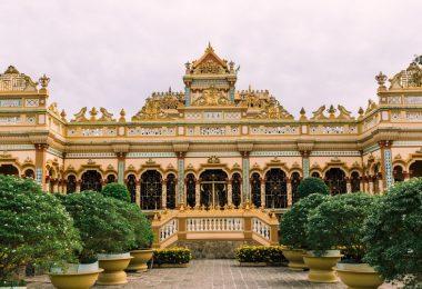 Vinh Trang Pagoda In Mekong Architecture