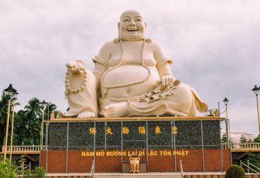 Vinh Trang Pagoda In Mekong Budda
