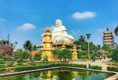 Vinh Trang Pagoda In Mekong Lake