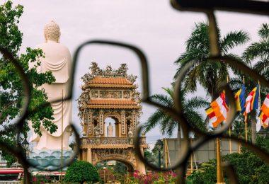 Vinh Trang Pagoda In Mekong Temple