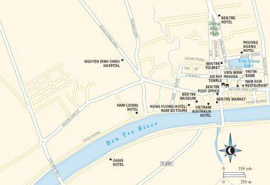 Ben Tre Travel Map