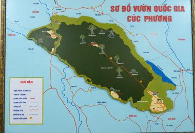 Cuc Phuong Map